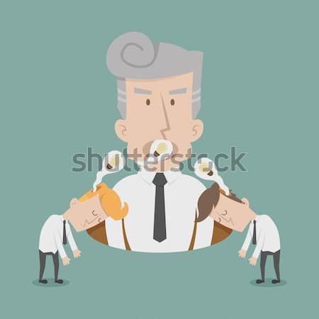 Business man get idea shake hands, eps10 vector format Stock photo © ratch0013