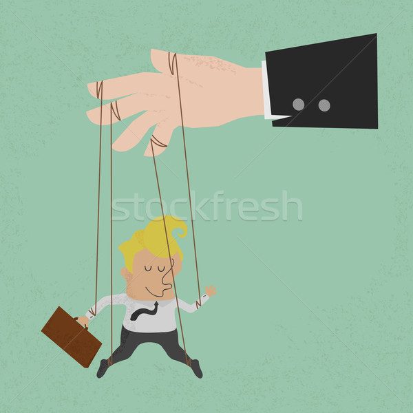 Businessman marionette on ropes controlled, eps10 vector format Stock photo © ratch0013