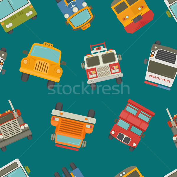 Stock photo: Seamless cars background and pattern