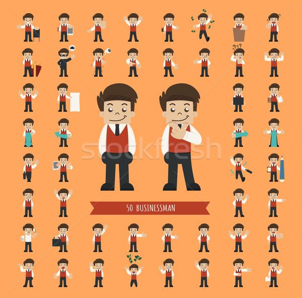 Ingesteld zakenman karakter eps10 vector formaat Stockfoto © ratch0013