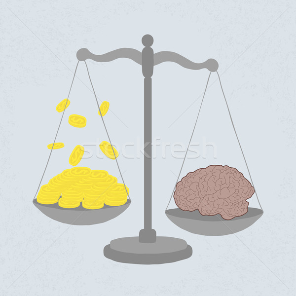 Stock photo: knowledge value in gold coins , eps 10 vector format