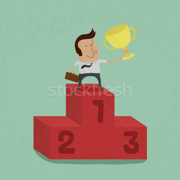 Business man the winner , eps10 vector format Stock photo © ratch0013