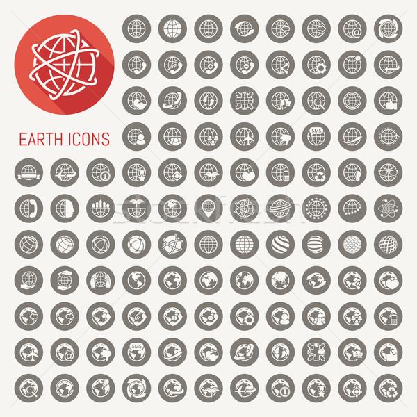 Aarde eps10 vector formaat internet Stockfoto © ratch0013