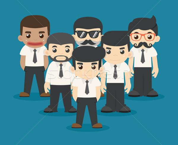 Zakenman teamwerk eps10 vector formaat business Stockfoto © ratch0013
