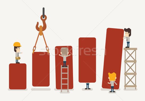 Businessman make graph Stock photo © ratch0013