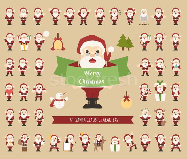 Ingesteld kerstman karakter eps10 vector formaat Stockfoto © ratch0013