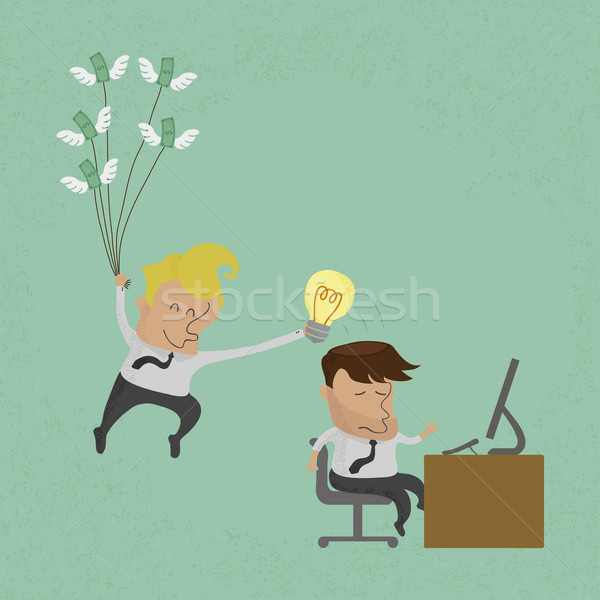 Business man stealing idea , eps10 vector format Stock photo © ratch0013