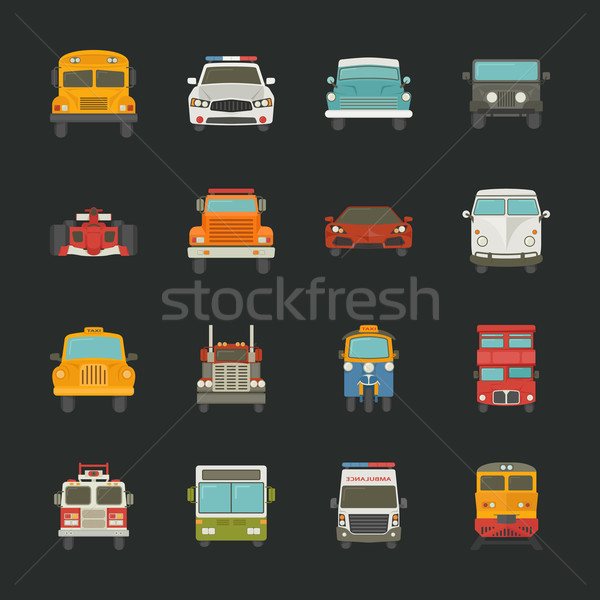 Auto iconen vervoer eps10 vector formaat Stockfoto © ratch0013