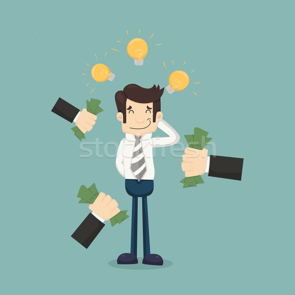 Empresario idea eps10 vector formato negocios Foto stock © ratch0013