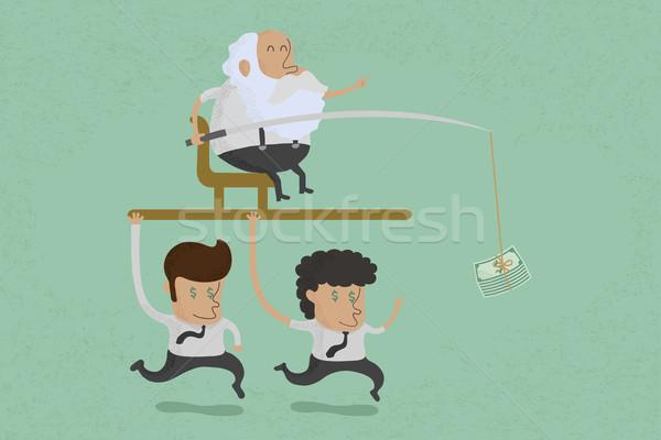 Business man motivation , eps10 vector format Stock photo © ratch0013