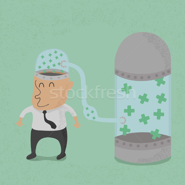 Businessman with positive thinking , eps10 vector format  Stock photo © ratch0013