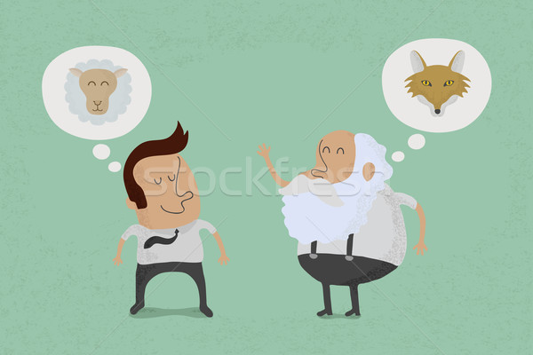 Fools always fall prey to the wise , eps10 vector format Stock photo © ratch0013
