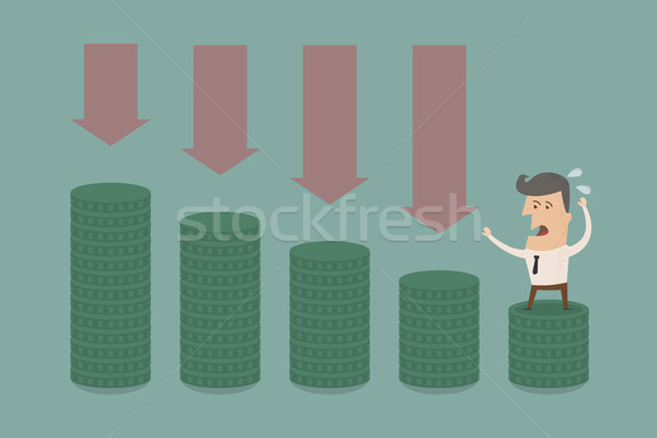 Business man  graph down Stock photo © ratch0013