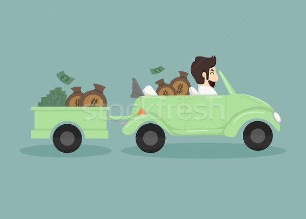 Zakenman geld eps10 vector formaat auto Stockfoto © ratch0013