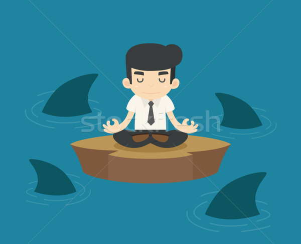 Businessman in a risky situation Stock photo © ratch0013