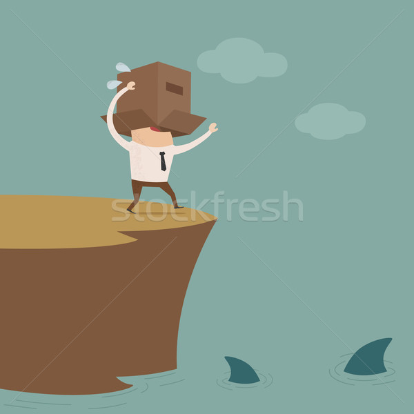 Crisis business eps10 vector formaat werk Stockfoto © ratch0013