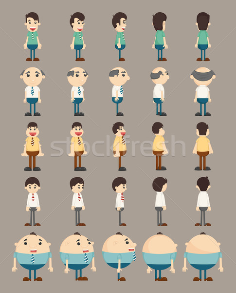 Set of business man characters  Stock photo © ratch0013