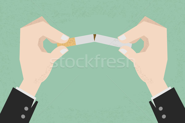 Stoppen roken menselijke handen sigaret eps10 Stockfoto © ratch0013