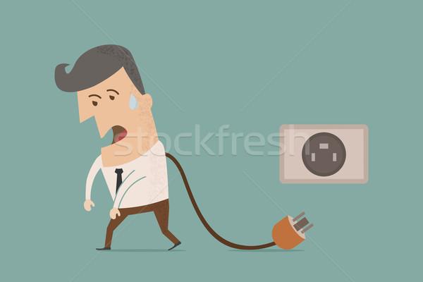 üzletember eps10 vektor formátum elektromosság személy Stock fotó © ratch0013