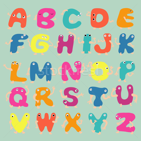 Funny alphabet letters  eps10 vector format Stock photo © ratch0013
