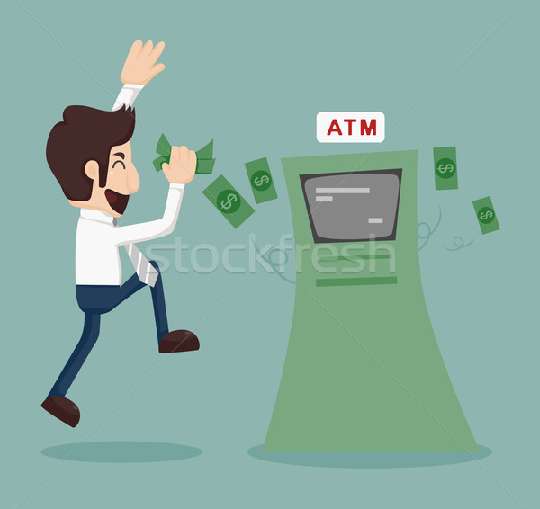 Businessman withdrawing money from ATM  Stock photo © ratch0013