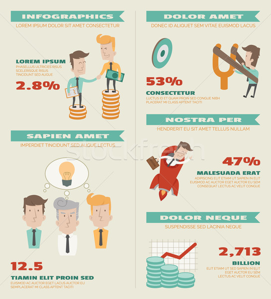 Business infographics elements Stock photo © ratch0013