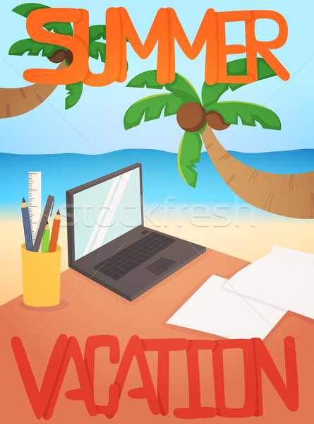 Vacances eps10 vecteur format papier Photo stock © ratch0013