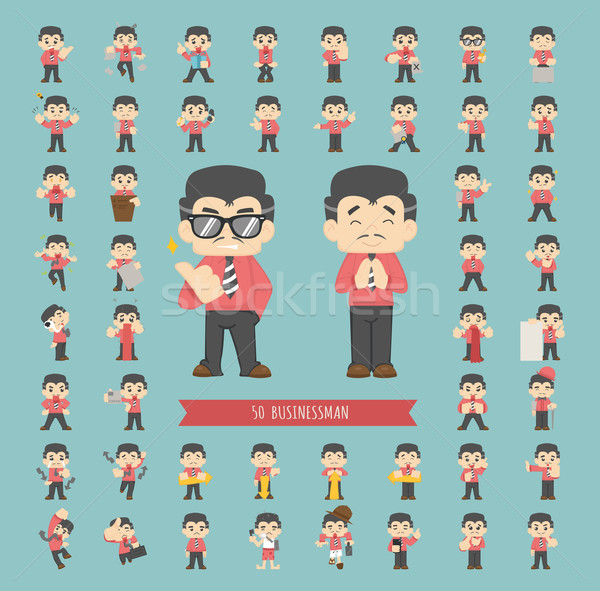 Set of businessman character Stock photo © ratch0013