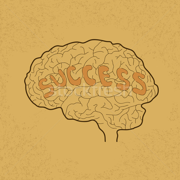 Brain Idea for Success or Inspiration , eps10 vector format Stock photo © ratch0013