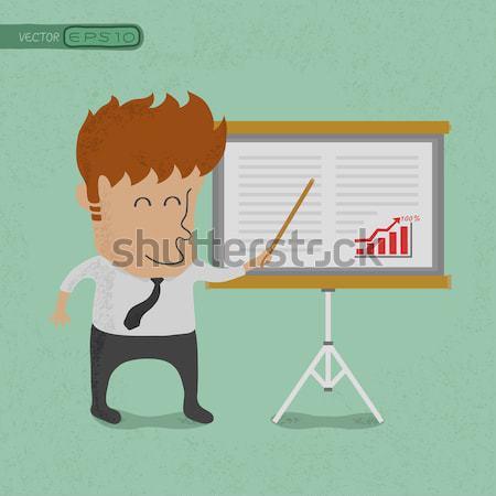 Business man making a presentation Stock photo © ratch0013