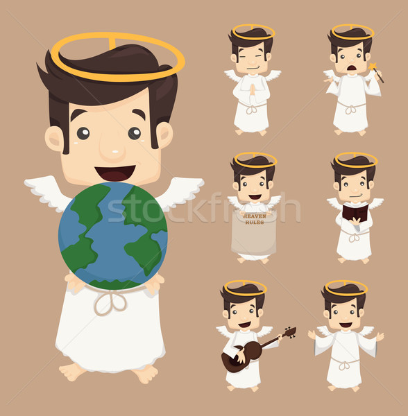 Set of angel characters poses Stock photo © ratch0013
