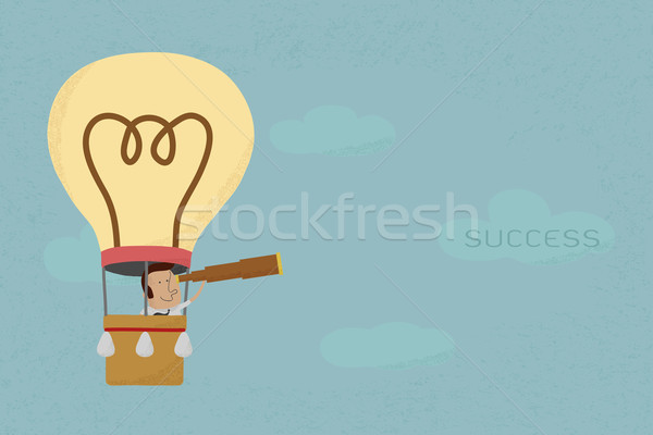 Businessman in balloon search to success , eps10 vector format Stock photo © ratch0013