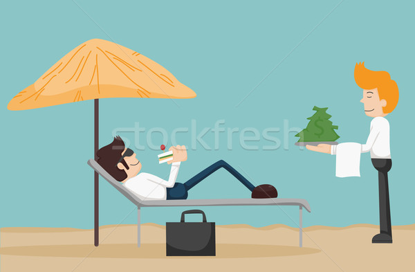 Business man relaxing on the beach  Stock photo © ratch0013
