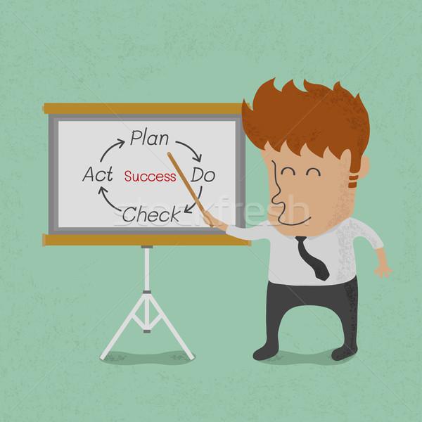 Hombre de negocios presentación bordo eps10 vector Foto stock © ratch0013