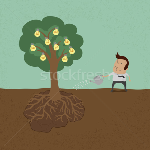 Business man watering idea tree  , eps10 vector format Stock photo © ratch0013