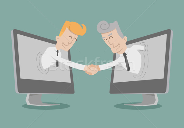 Businessman shake hand , Online Business , Online Marketing Stock photo © ratch0013