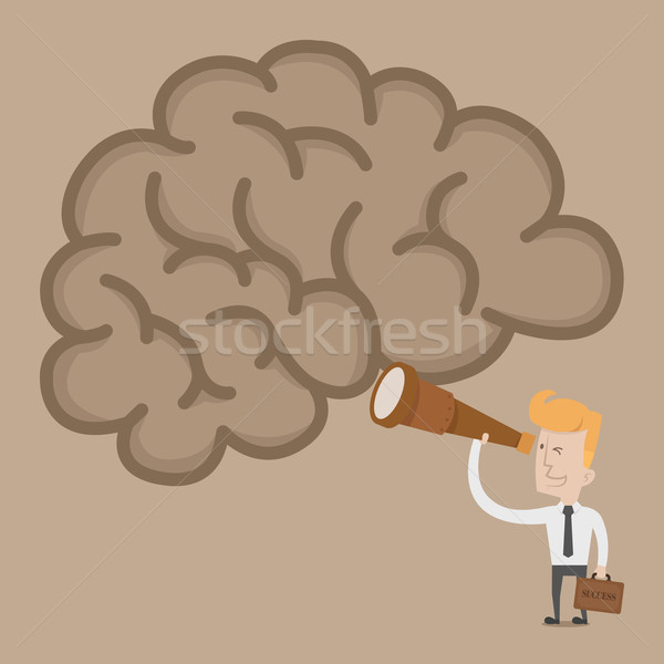 Businessman searching idea brain Stock photo © ratch0013