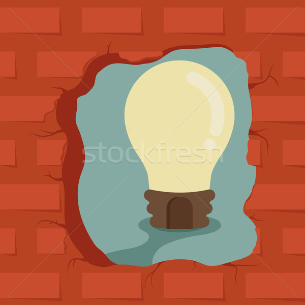 Pensar fuera cuadro idea eps10 vector Foto stock © ratch0013