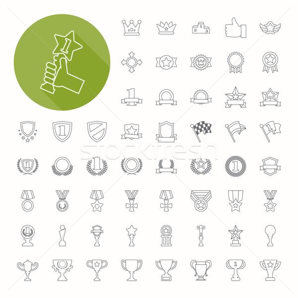Icônes léger icône design eps10 Photo stock © ratch0013
