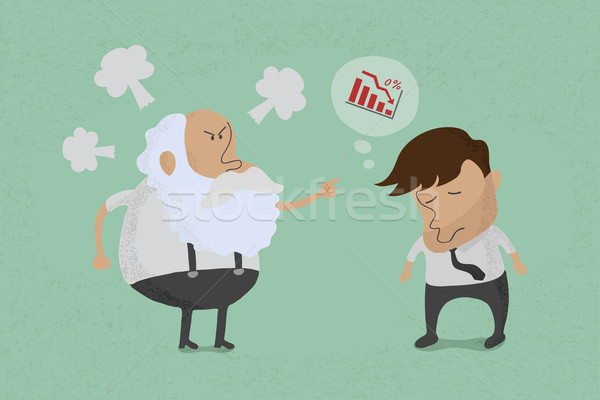 Angry boss with employee  , eps10 vector format Stock photo © ratch0013