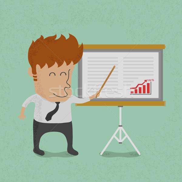 Сток-фото: деловой · человек · презентация · совета · eps10 · вектора
