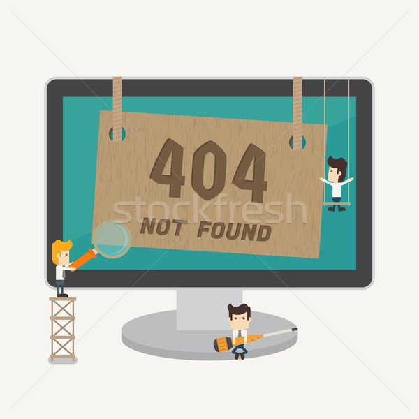 Page not found, 404 error Stock photo © ratch0013