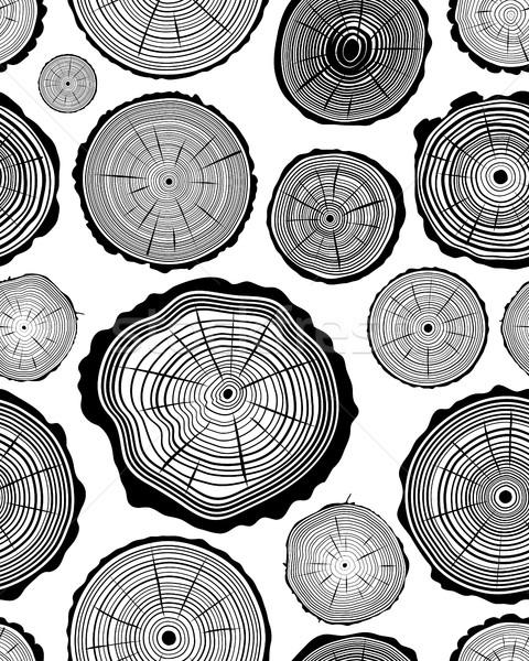 Modèle bois anneau texture forêt Photo stock © ratkom