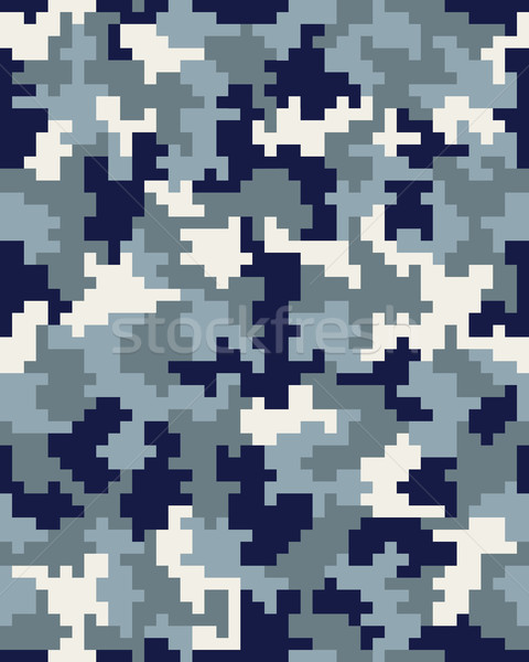 Seamless digital camouflage Stock photo © ratkom