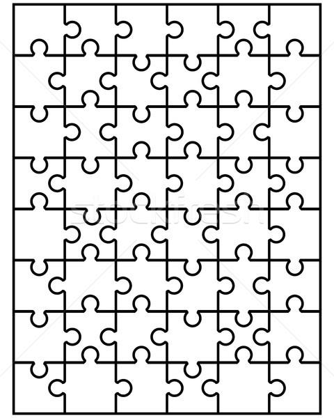 Blanche puzzle illustration séparé texture Photo stock © ratkom