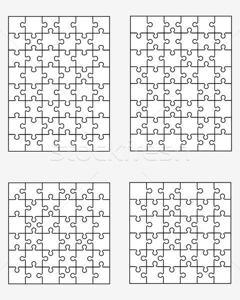 Quatre différent blanche séparé pièces texture Photo stock © ratkom