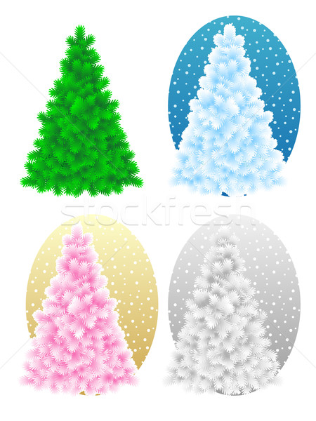 Christmas tree, four variants Stock photo © ratselmeister
