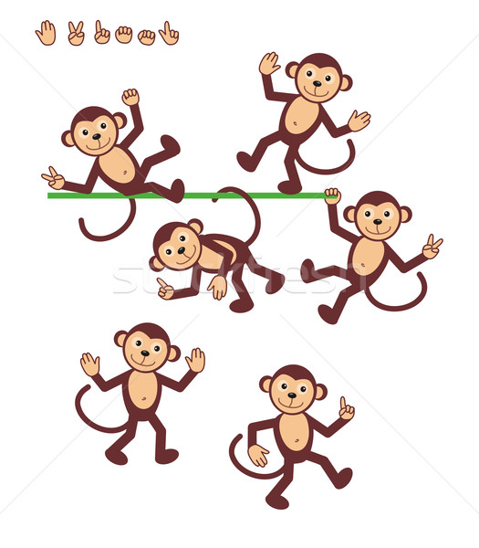 Cartoon characters - monkey Stock photo © ratselmeister