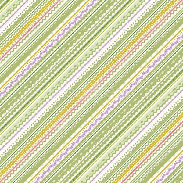 Verde blanco patrón papel Foto stock © ratselmeister