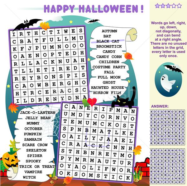 Halloween wordsearch puzzle Stock photo © ratselmeister
